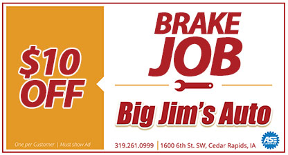 Discount brake job cedar rapids, iowa