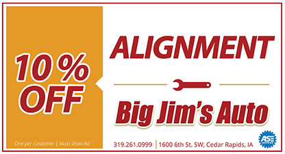 Discount alignment cedar rapids, iowa